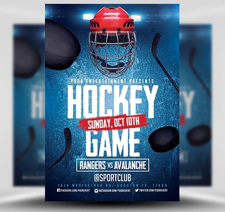hockey flyer template