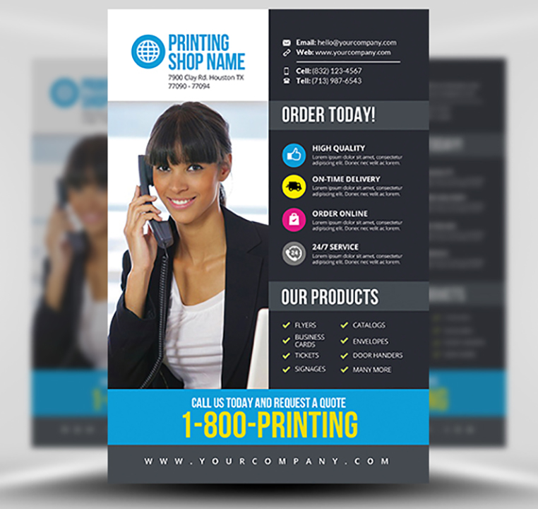 Printing Services Flyer Template v3 - FlyerHeroes