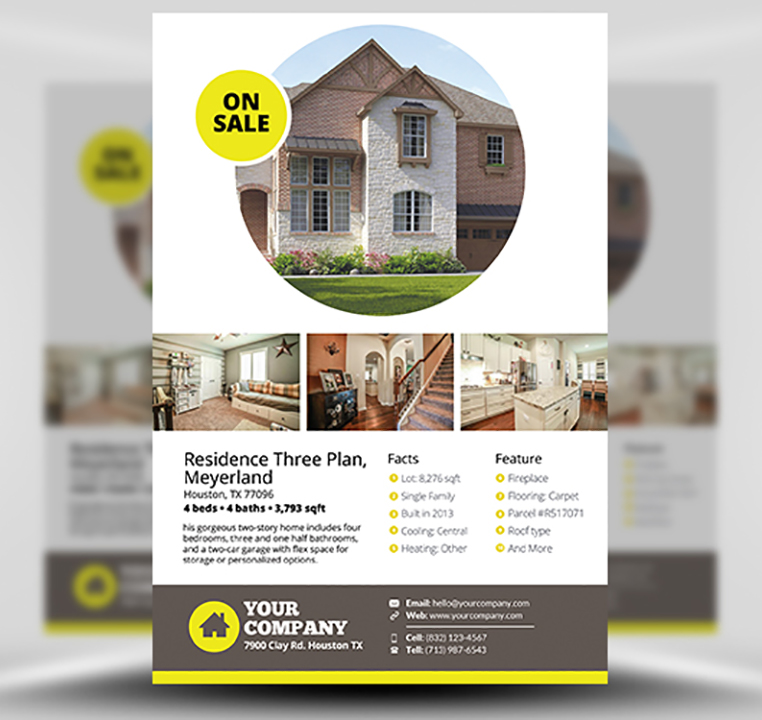 real estate brochure template - real estate flyer template v2 flyerheroes
