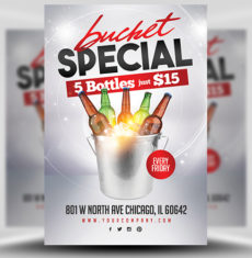 Beer Bucket Special Flyer Template 1