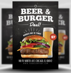 Beer and Burger Flyer Templates 1