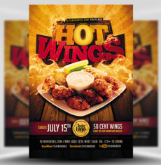 Hot Wings Flyer Template FH 1
