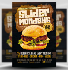 Slider Mondays Flyer Template FH 1