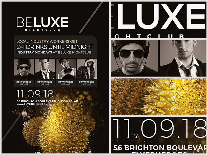 beluxe club flyer template