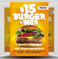 Burger and Beer Poster Template FH 1