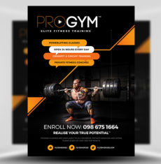 PRO Gym Fitness Flyer Template FH 1