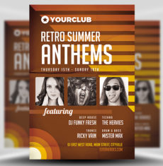 Retro Anthems Flyer Template FH 1