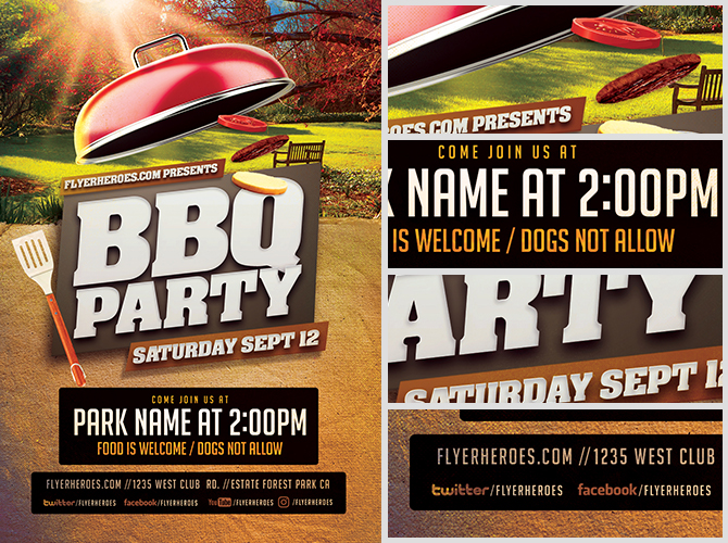 Bbq Party Flyer Image Gallery - Hcpr
