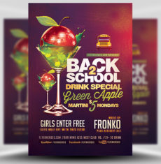 Back To School Drink Special Flyer Template FH 1