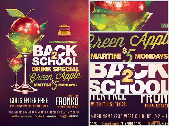 Back To School Drink Special Flyer Template Flyerheroes