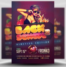 Back To School Nineties Flyer Template FH 1