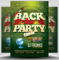 Back To School Party Flyer Template 5 FH 1