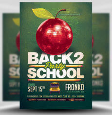 Back To School Party Flyer Template 6 FH 1