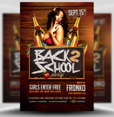 Back To School Party Flyer Template 8 FH 1