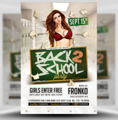 Back To School Party Flyer Template 9 FH 1