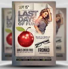 Last Back To School Flyer Template FH 1