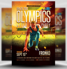 Olympic After Party Flyer Template 2 FH 1