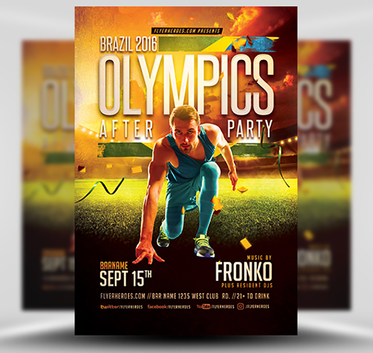 Olympic After Party Flyer Template 2