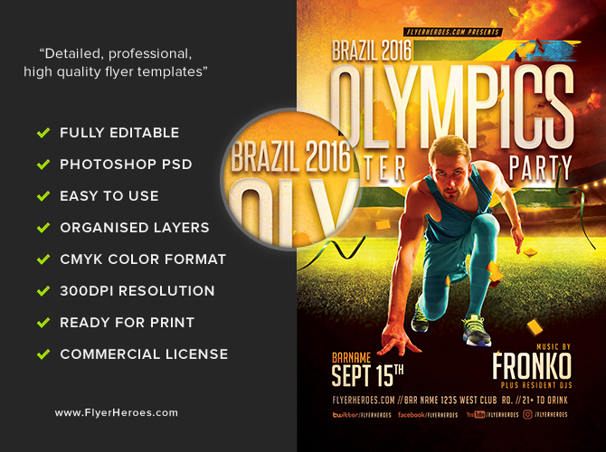 olympic after party flyer template 2 16