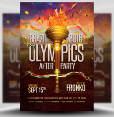 Olympic After Party Flyer Template FH 1