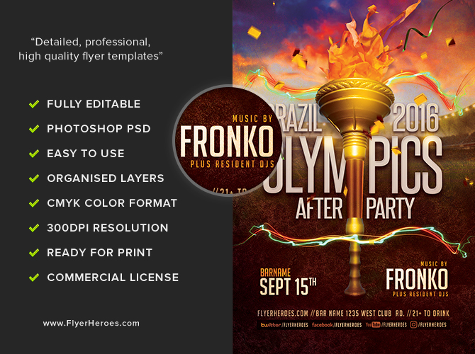 olympic after party flyer template 5 16