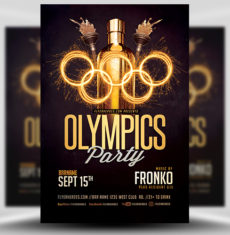 Olympic Party Flyer Template 2 FH 1