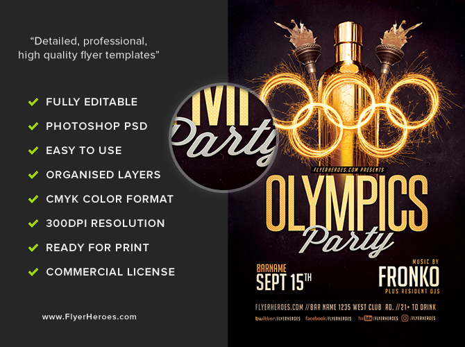 olympic party flyer template 4 16
