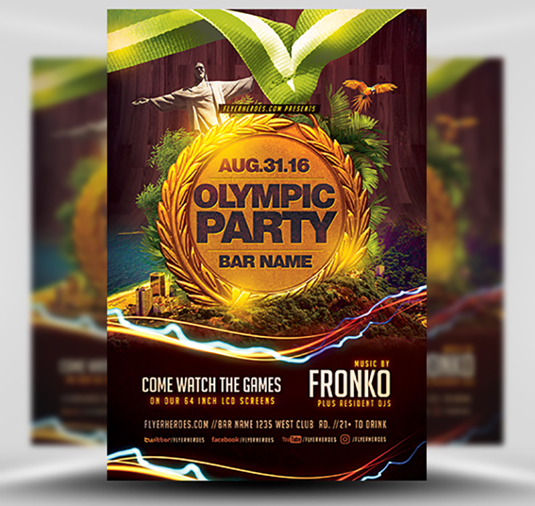 Olympic Party Flyer Template FH 1