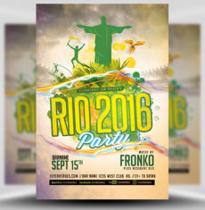 Rio Olympic Party Flyer Template FH 1