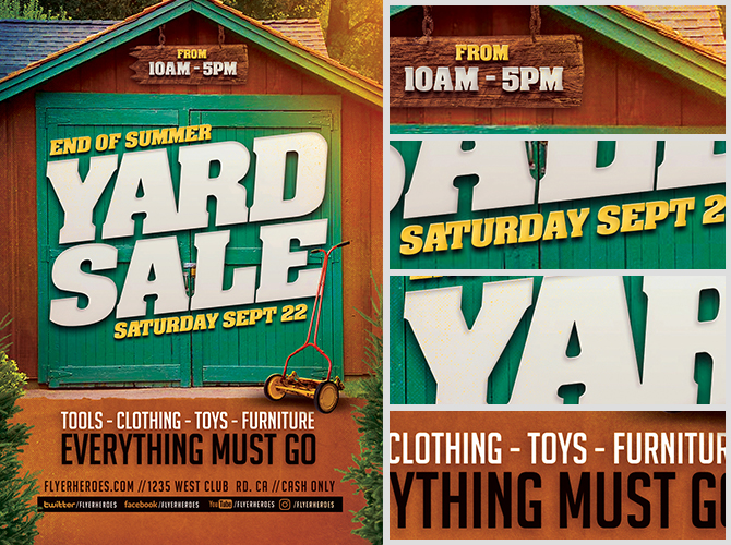 End Of Summer Yard Sale Flyer Template  Flyerheroes