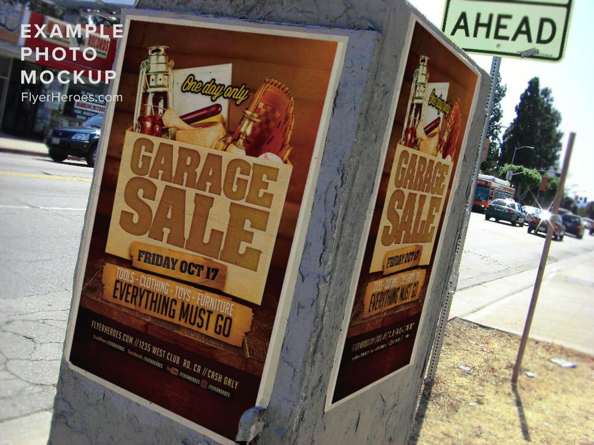 Garage Sale Flyer Template Flyerheroes