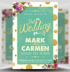 The Wedding Flyer Template FH 1