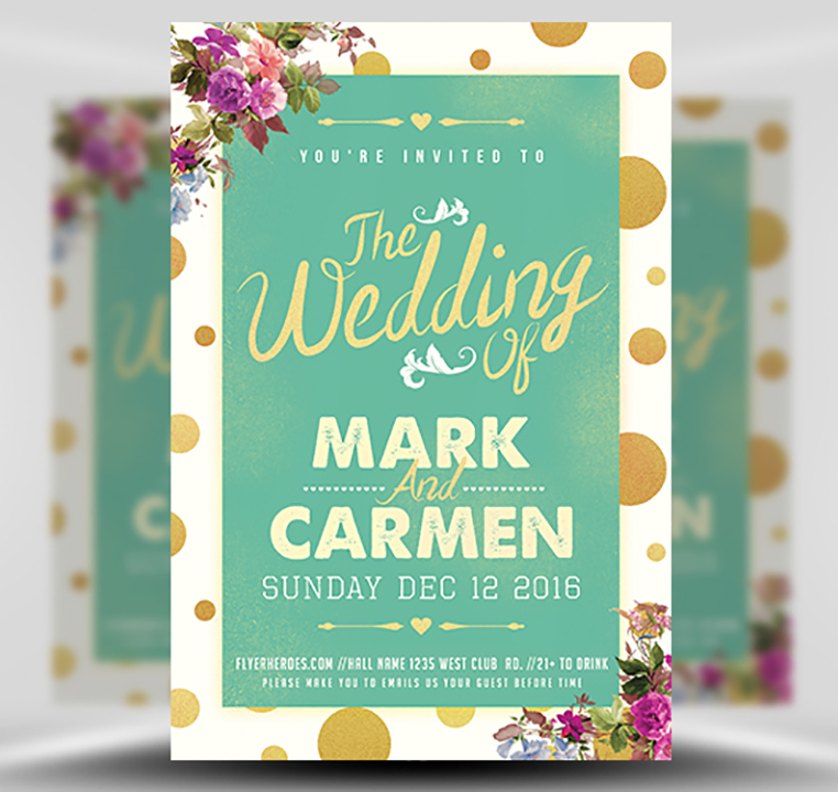 The Wedding Flyer Template FlyerHeroes – Wedding Flyer