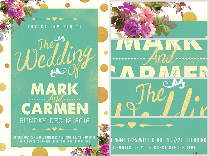 Wedding Flyer. Easy To Print Wedding Flyer Template For Download