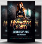 Black and Gold Halloween Fl-Graphicriver中文最全的素材分享平台