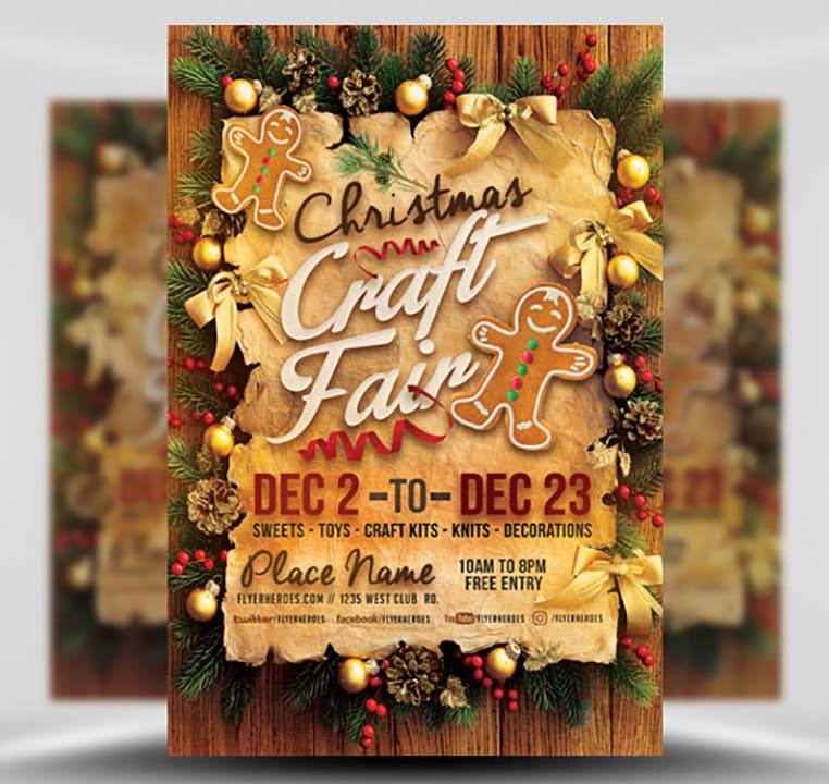 Christmas Craft Show Flyer.Christmas Craft Fair Flyer Template Flyerheroes