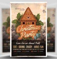 neighborhood-christmas-party-flyer-template-1