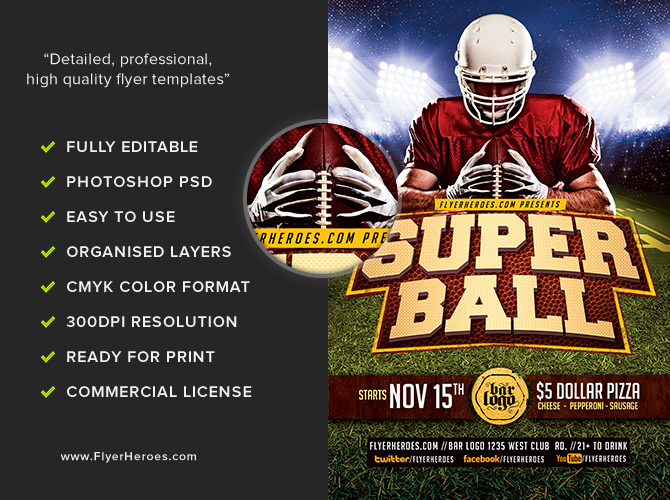 Super Ball Flyer Template v2 FlyerHeroes – Competition Flyer Template