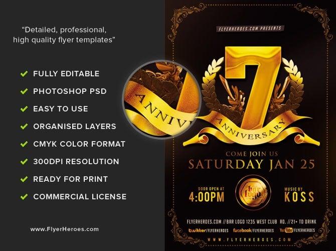 Business Anniversary Flyer Template FlyerHeroes – Anniversary Flyer