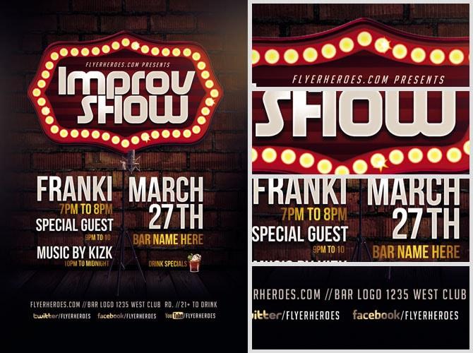 Improv Show Flyer Template - Flyerheroes