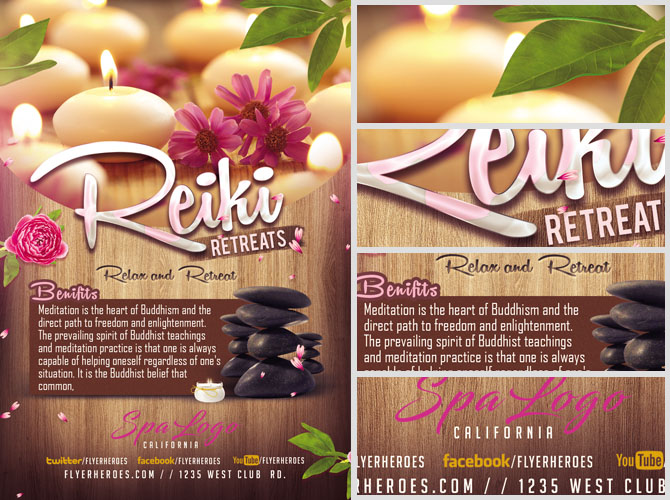 Relax And Retreat Spa Flyer Template Flyerheroes