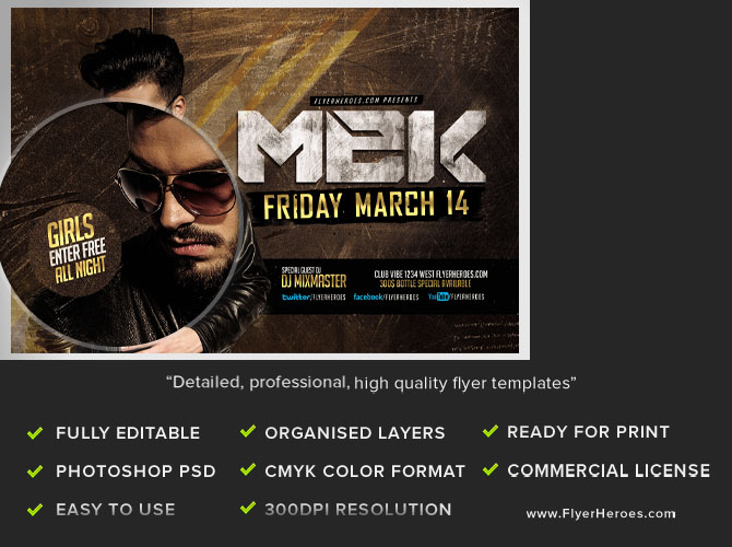 MEK Bar Flyer Template FlyerHeroes – Bar Flyer Template
