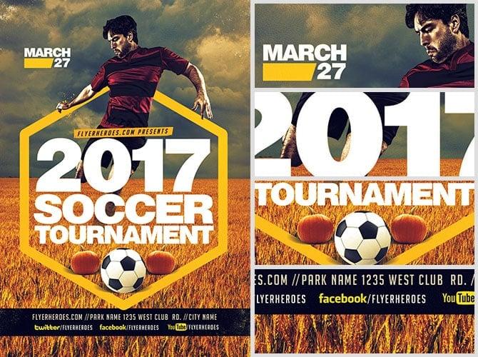 2017 Halloween Soccer Tournament Flyer Template Flyerheroes