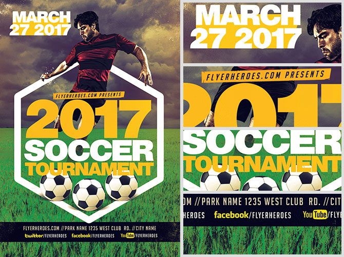 2017 Soccer Tournament Flyer Template v2 FlyerHeroes – Soccer Flyer Template