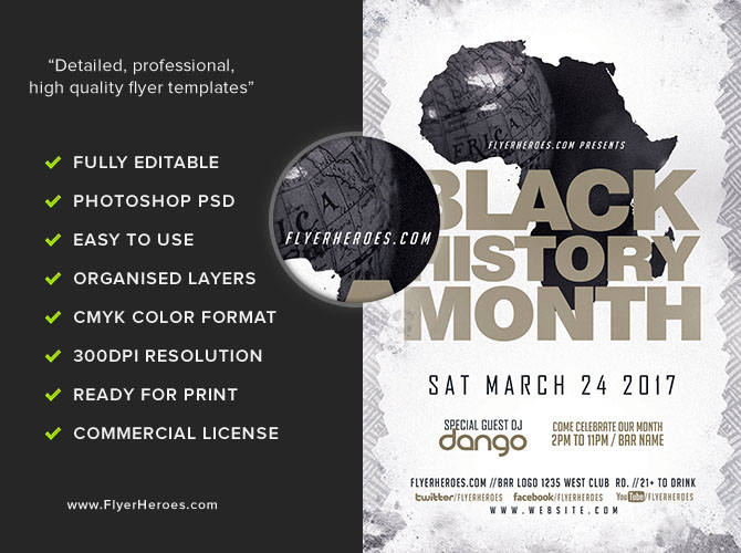 Black History Month Flyer Template  Flyerheroes