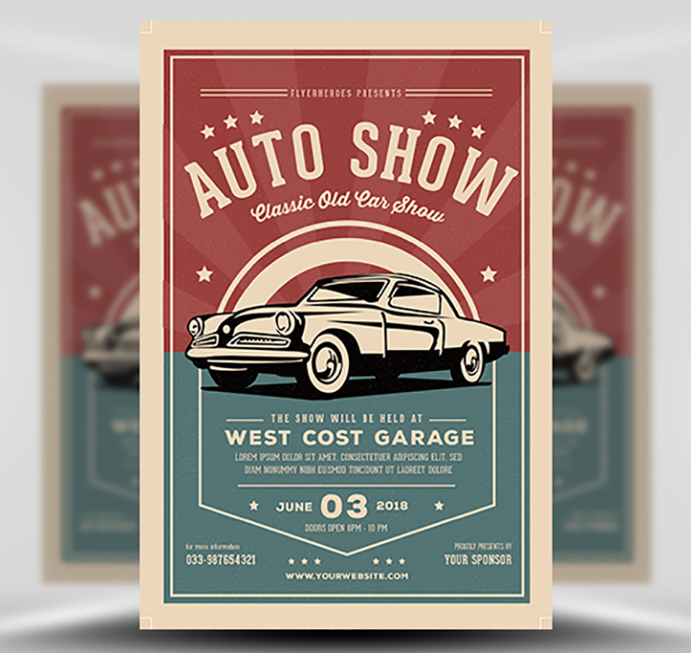 Old Classic Car Show Flyer Template FlyerHeroes – Car Flyer Template