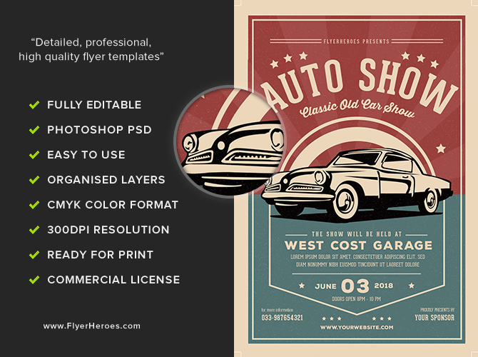 show flyer templates