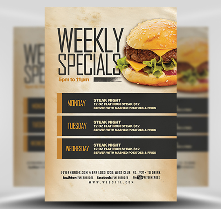 weekly specials flyer template v2 flyerheroes