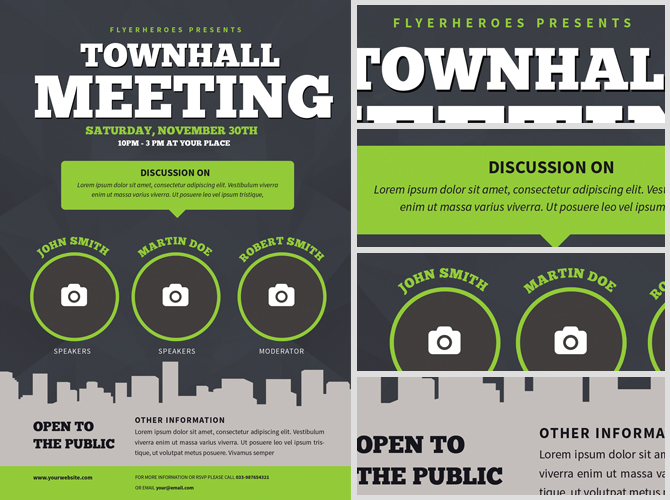 meeting flyer template