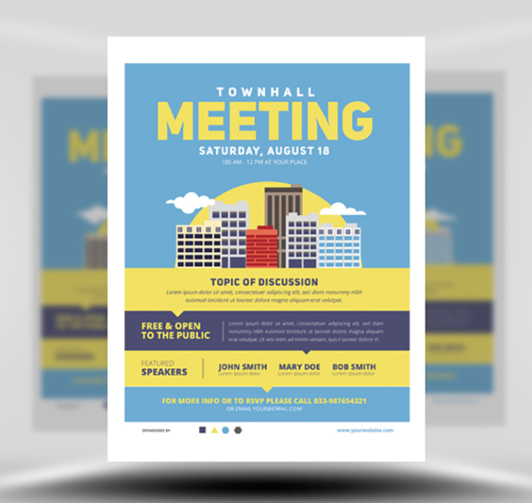meeting flyer templates free